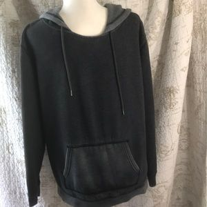 American Eagle Outfitters Distressed pocket hoodie